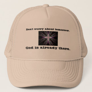 Don't Worry Trucker Hat w/Feather Cross