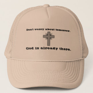 Don't Worry Trucker Hat w/Gray Flared Cross