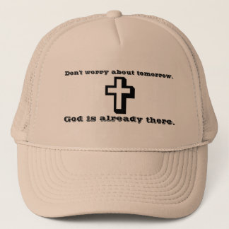 Don't Worry Trucker Hat w/Shadow Cross