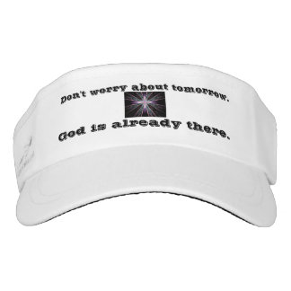 Don't Worry Visor w/Feather Cross