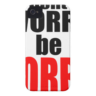 dontworrybesorry dont worry worried happy sorry jo iPhone 4 Case-Mate case