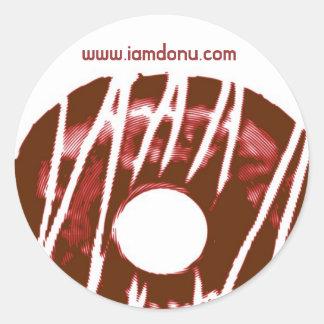 donu logo, www.iamdonu.com classic round sticker
