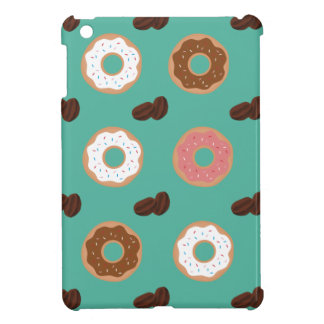 Donut and Coffee Beans Cover For The iPad Mini