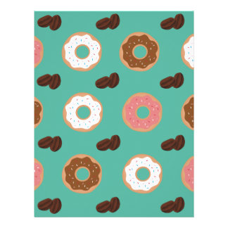 Donut and Coffee Beans Letterhead