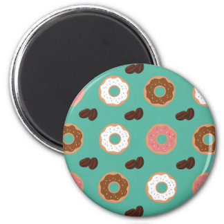 Donut and Coffee Beans Magnet