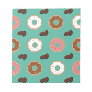 Donut and Coffee Beans Notepad