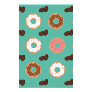 Donut and Coffee Beans Stationery