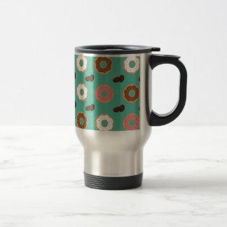 Donut and Coffee Beans Travel Mug