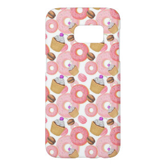 Donut and Cupcake Dessert Pattern Samsung Galaxy S7 Case