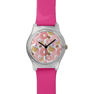 Donut and Cupcake Dessert Pattern Watch