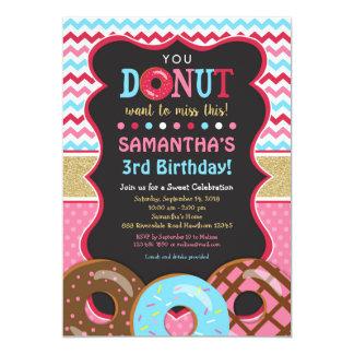Donut Birthday Invitation, Donut Invitation