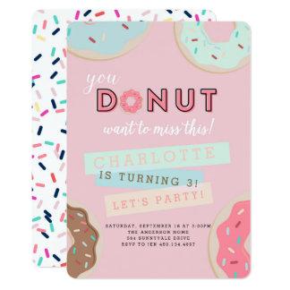 Donut Birthday Invitation - Donut Miss This Party!