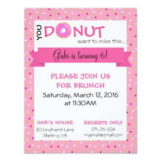 "Donut Birthday Matte Invitation 4.25"" x 5.5"""