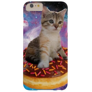 Donut cat-cat space-kitty-cute cats-pet-feline barely there iPhone 6 plus case