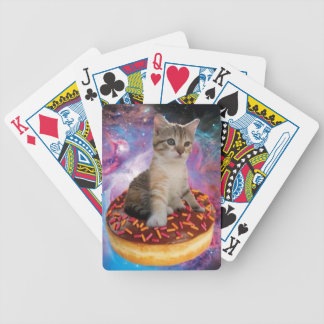 Donut cat-cat space-kitty-cute cats-pet-feline bicycle playing cards