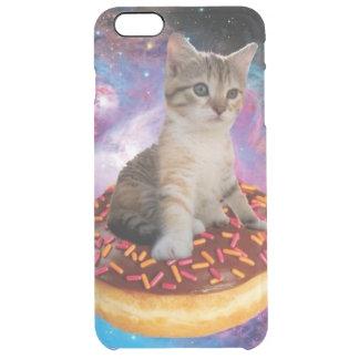 Donut cat-cat space-kitty-cute cats-pet-feline clear iPhone 6 plus case