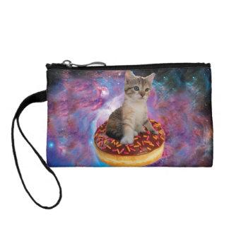 Donut cat-cat space-kitty-cute cats-pet-feline coin purse