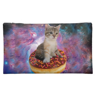 Donut cat-cat space-kitty-cute cats-pet-feline makeup bag