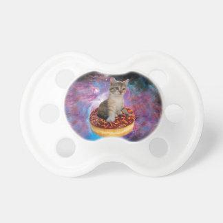 Donut cat-cat space-kitty-cute cats-pet-feline pacifier