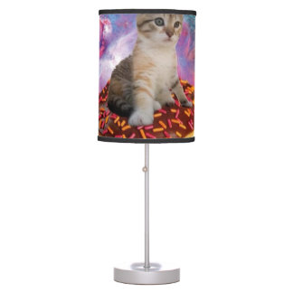 Donut cat-cat space-kitty-cute cats-pet-feline table lamp