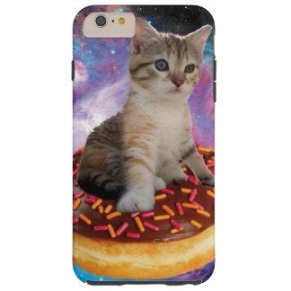 Donut cat-cat space-kitty-cute cats-pet-feline tough iPhone 6 plus case