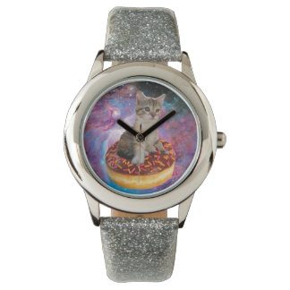 Donut cat-cat space-kitty-cute cats-pet-feline watch