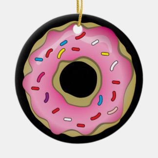 Donut Ceramic Ornament