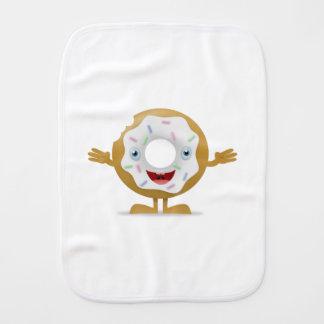 Donut Character Burp Cloth