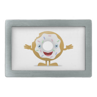 Donut Character Rectangular Belt Buckles