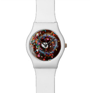 Donut cute funny foodie lover chocolate sprinkles watch