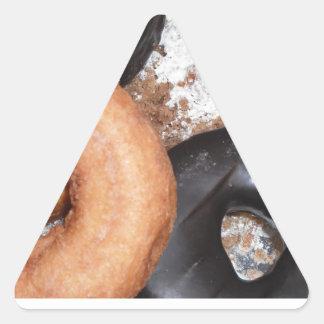 Donut Delight Triangle Sticker