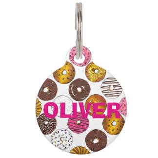 Donut Doughnut Personalized Donuts Pet Dog Tag Pet Name Tag