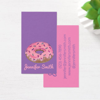 Donut Doughnut Shop Bakery Food Baking Donuts Business Card