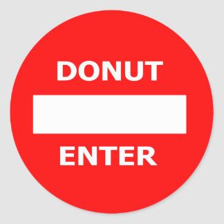 DONUT ENTER-sticker Classic Round Sticker