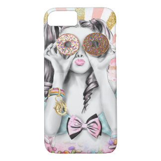 "Donut Girl iPhone 7 ""barely there"" case"