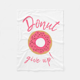 Donut Give Up Pink With Chocolate Sprinkles Fleece Blanket