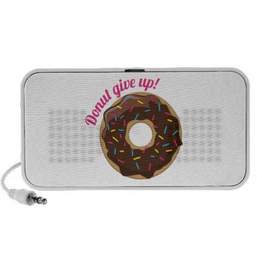 Donut Give Up! Travelling Speakers