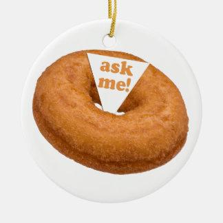 Donut Humor custom ornament