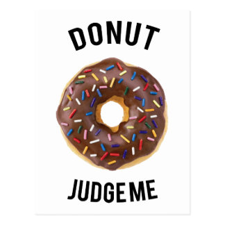 Donut judge me postcard