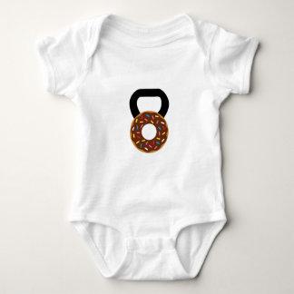 Donut Kettlebell Baby Bodysuit