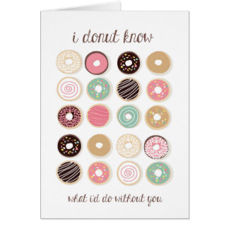 Donut Know Thank You Card