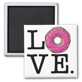 Donut Love Funny Food Square Magnet