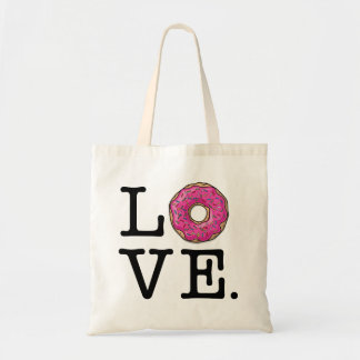 Donut Love Funny Food Tote Bag