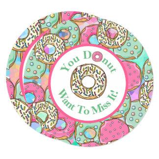 Donut Miss It Donut Birthday Party Invitation2 Card