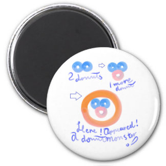 Donut Monster 2 Inch Round Magnet