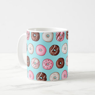 Donut Mug - Doughnut Blue Aqua Coffee Cup Latte