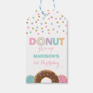 Donut Party Favor Thank You Tag Donut Grow Up