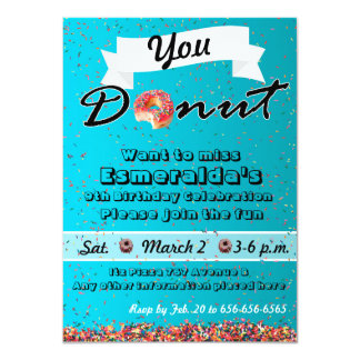 Donut Party Invitation, Donut Birthday Invitation