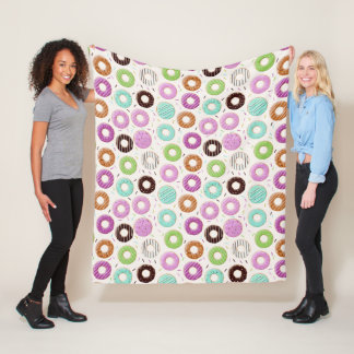 Donut Pattern fleece blankets