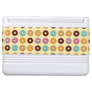 Donut Pattern on Yellow